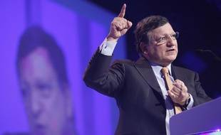 Jose Manuel Barroso, président de la Commission européenne le 7 mars 2014