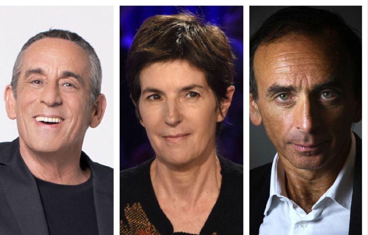 Thierry Ardisson, Christine Angot, Eric Zemmour, les rois du clash et une espèce en voie de disparition? – Caroline Delmotte-Canal+ /  Bernard BARBEREAU-FTV  / AFP PHOTO-JOEL SAGET