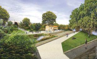 Construite au début du XIXe siècle, la maison éclusière fait 80 m2 et dispose de 250 m2 de terrain.