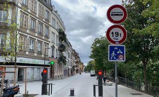 Quai des Bateliers à Strasbourg le 30 septembre 2019.
