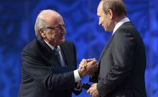Sepp Blatter Et Vladimir Poutine, BFF.