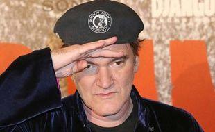 Quentin Tarantino à l'avant-première française de Django Unchained, à Paris, le 7 janvier 2013.
