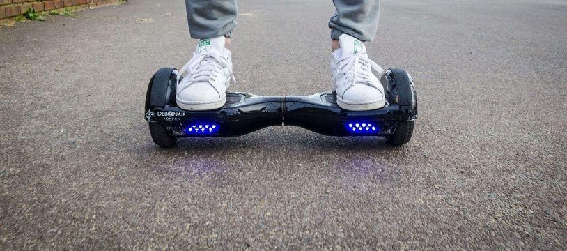Un  hoverboard, à Londres.
