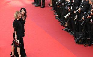 Nicole Garcia et la réalisatrice Maïwenn à l'anniversaire du Festival de Cannes en mai 2017