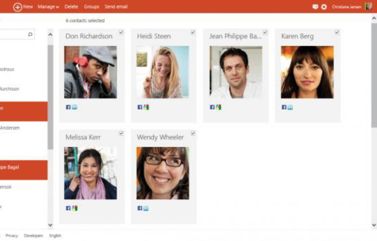 Outlook.com offre une interaction enrichie avec les Contacts de l'utilisateur. – MICROSOFT
