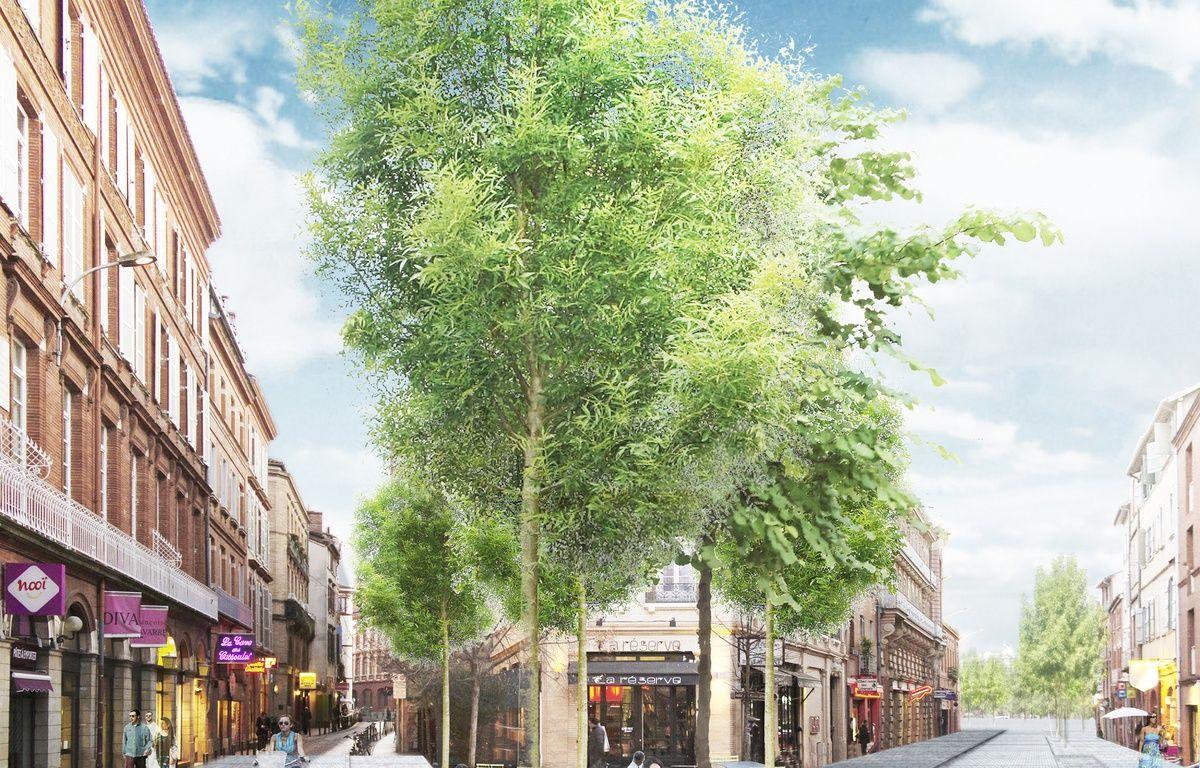 Le réaménagement de la rue Gambetta, à Touluose, selon l'urbaniste catalan Joan Busquets. – Agence BAU-B- Joan Busquets
