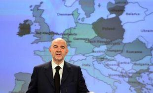 Pierre Moscovici, le commissaire européen aux Affaires économiques, le 5 février 2015 à Bruxelles