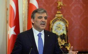 Le chef de l'Etat turc Abdullah Gül à Budapest, le 17 février 2014