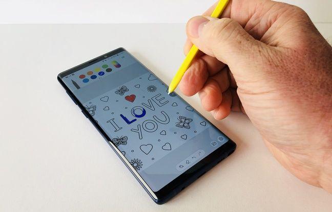 La fonction PENUP permet d'accéder à des coloriages à réaliser avec le stylet.