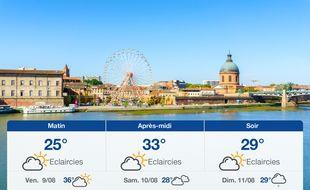 Météo Toulouse: Prévisions du jeudi 8 août 2019