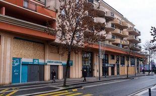 Une rue de Valence en février 2019