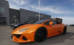 Une Lamborghini Huracán Evo.