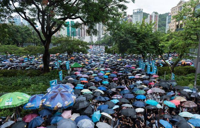 La manifestation du 18 août 2019 à Hong Kong.