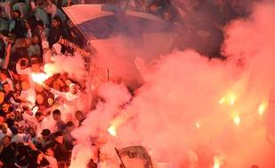 Les supporters de l'OM lors de la finale de la ligue Europa.