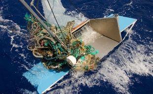 Une photo de déchets plastiques collectés dans le Pacifique en 2015.