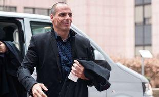Yanis Varoufakis, le ministre des Finances grec, à Bruxelles, le 16 février 2015.