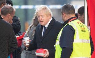 Boris Johnson sur les lieux de l'attaque