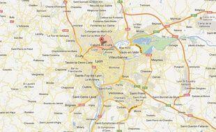 Google Maps de Caluire-et-Cuire (Rhône).