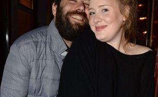 Simon Konecki and Adele au concert de Lady Gaga, le 6 décembre 2013 à Londres.