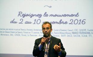 Le philosophe français Abdennour Bidar lors du lancement du mouvement
