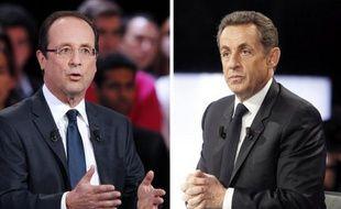 A une semaine du premier tour de la présidentielle, Nicolas Sarkozy et François Hollande se défient dimanche à Paris, le premier place de la Concorde et le deuxième sur l'esplanade du château de Vincennes, avec deux meetings monstre en plein air.