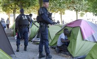 Le tribunal avait demandé l'évacuation du square Daviais, en plein centre-ville, pour des raisons sanitaires.