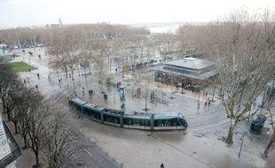 Bordeaux, 17 decembre 2012. - la plce des Quinconces. - Photo : Sebastien Ortola
