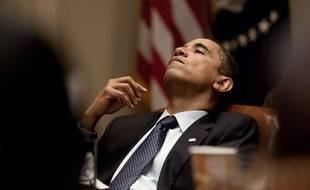 Barack Obama dans le bureau ovale de la Maison Blanche