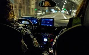 Une patrouille de police nocturne à Toulouse. Illustration.
