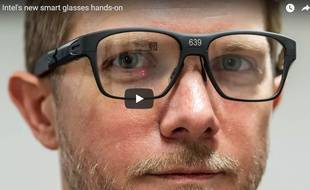 Intel a dévoilé son prototype de lunettes connectées Vaunt au site The Verge.