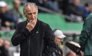 Ghislain Printant, ce jeudi lors du match de Ligue Europa contre Wolfsburg. PHILIPPE DESMAZES