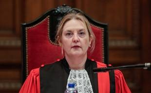 La présidente de la cour d'assises de Bruxelles, Laurence Massart, lors du procès de Mehdi Nemmouche, le 18 février 2019.