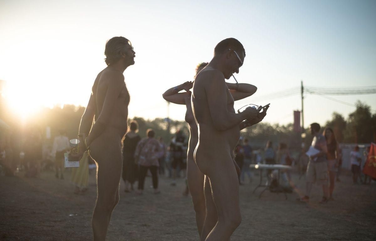 Des naturistes etaient presents à la Fete de l'Humanite, le vendredi 10 Septembre 2016. – SIPA