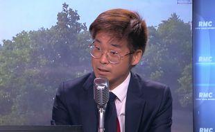 Le député LREM Joachim Son-Forget sur le plateau de RMC, le 22 juin 2017.