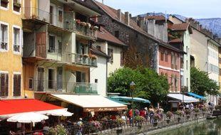 A Annecy, en Haute Savoie.