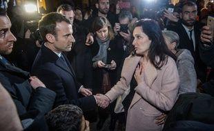 Emmanuel Macron a rencontré la femme d'Yvan Colonna, à Ajaccio, le 6 février 2018.