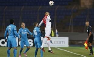 L'attaquant de Monaco Dimitar Berbatov le 1er octobre 2014 contre le Zenith Saint-Petersbourg.