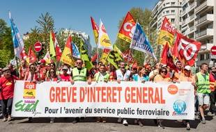 Grève des fonctionnaires à Lyon le 19 avril 2019.