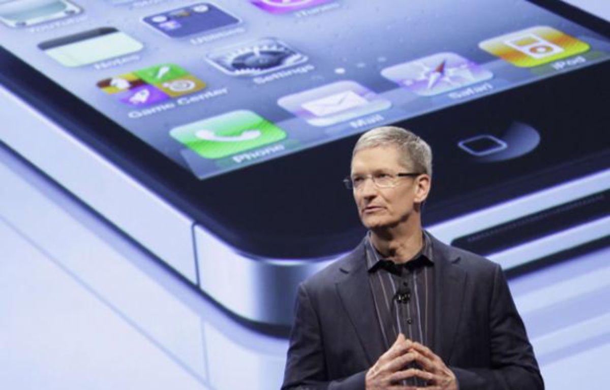 Tim Cook, le successeur de Steve Jobs à la tête d'Apple, photographié le 11 janvier 2011 à New York.  – Mark Lennihan/AP/SIPA
