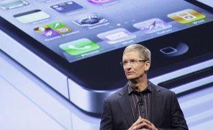 Tim Cook, le successeur de Steve Jobs à la tête d'Apple, photographié le 11 janvier 2011 à New York.