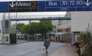La station de métro Bougainville à Marseille.