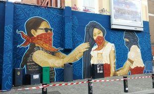 La fresque incriminée réalisée par un collectif mexicain à l'occasion de Lille 3000 Eldorado.