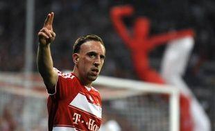 L'attaquant français du Bayern Munich, Franck Ribéry, lors d'un match face à Leverkusen, le 12 mai 2009.