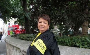 Me Edith Verger-Morlhigem, avocate à Limoges, est venue manifester à Paris contre le projet de réforme de l'aide juridictionnelle.