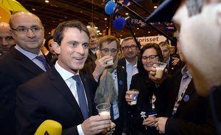Le Premier ministre Manuel Valls ce lundi matin au Salon de l'agriculture.