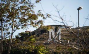 Les lettres M.A.R.S.E.I.L.L.E lors de leurs installations à Marseille.