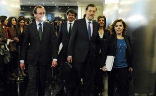 """Le chef du gouvernement espagnol Mariano Rajoy a appelé mercredi les dirigeants européens à être """"prudents"""" dans leurs déclarations sur l'Espagne, écartant une nouvelle fois tout besoin d'un plan d'aide, au lendemain de fortes tensions sur les marchés financiers"""