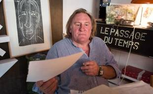 Exck-lusive photo shoot of legendary French actor Gerard Depardieu posing at his hotel Particulier in Paris, FRANCE - 06/09/2012/Credit:REVELLI-BEAUMONT/SIPA/1210241514