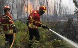 Plus de 900 pompiers sont mobilisés pour tenter d'arriver à bout des flammes qui ravagent la région de Leiria au Portugal.