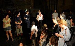"""Interruption de la répétition générale du """"Prince de Hombourg"""" le 2 juillet 2014 à Avignon, par les intermittents du spectacle du festival Off d'Avignon"""